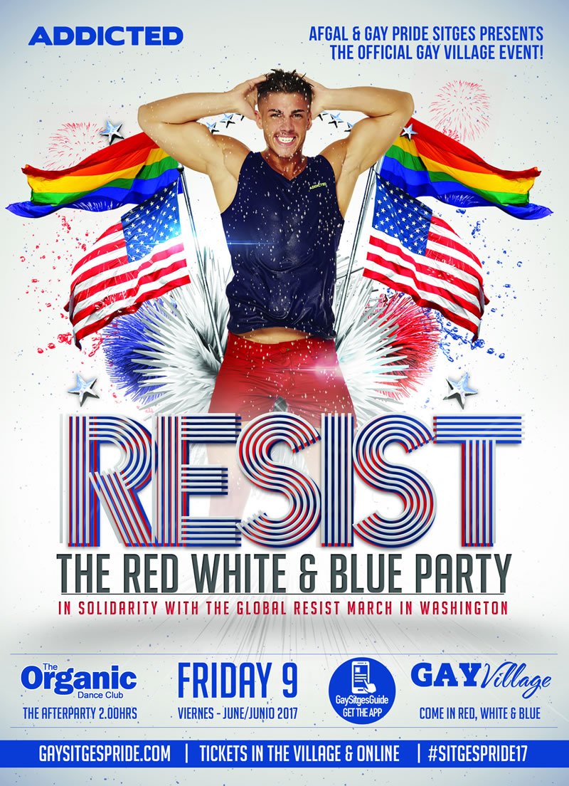 RESIST - Red, White & Blue